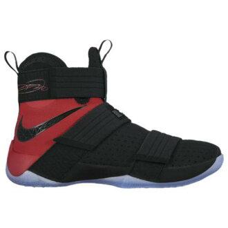(索取)耐克人露华浓军人10 Nike Men's LeBron Soldier 10 Black University Red