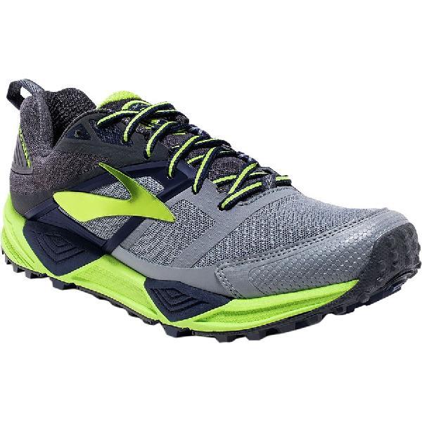(取寄)ブルックス メンズ カスケディア 12トレイル ランニングシューズ Brooks Men's Cascadia 12 Trail Running Shoe Primer Grey/Anthracite/Lime Punch