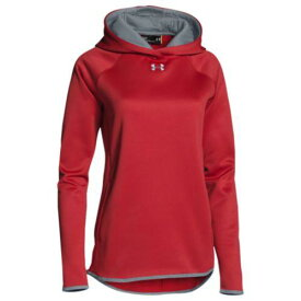 (取寄)アンダーアーマー レディース チーム ダブル スレット フリース フーディ Under Armour Women's Team Double Threat Fleece Hoodie Red Steel【outdoor_d19】