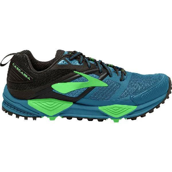 (取寄)ブルックス メンズ カスケディア 12トレイル ランニングシューズ Brooks Men's Cascadia 12 Trail Running Shoe Black/Turkish Tile/Andean Toucan