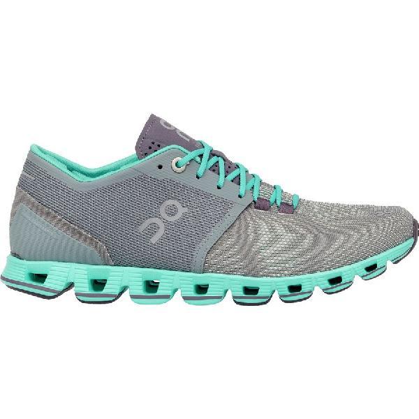 (取寄)オン フットウェアー レディース クラウド X ランニングシューズ On Footwear Women Cloud X Running Shoe Grey/Atlantis