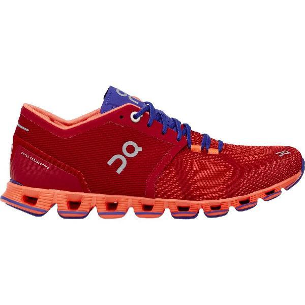 (取寄)オン フットウェアー レディース クラウド X ランニングシューズ On Footwear Women Cloud X Running Shoe Red/Flash