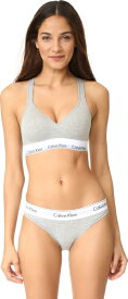 (取寄)Calvin Klein Underwear Women's Modern Cotton Lightly Lined Bralette カルバンクライン アンダーウェア レディース モダン コットン ライトリー ライン ブラレット Grey Heather 送料無料