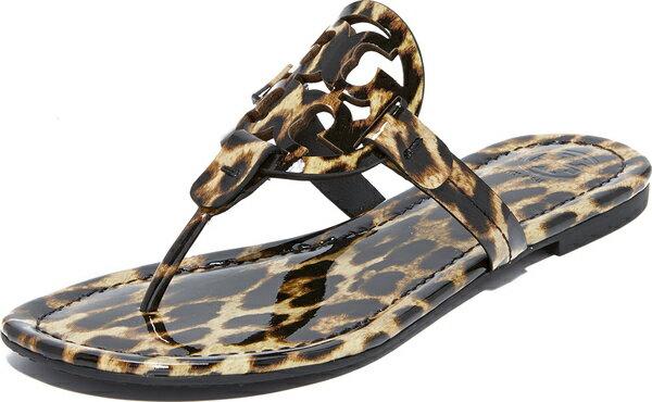 (取寄)Tory Burch Women's Miller Thong Sandals トリーバーチ レディース ミラー トング サンダル Leopard