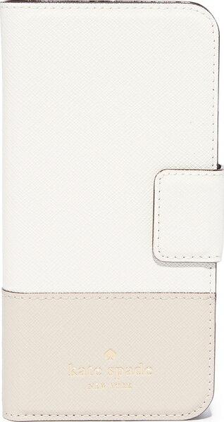 Kate Spade New York Leather Wrap Folio iPhone 7 Case ケイトスペード レザー ラップ フォリオ iPhone 7 ケース Cement/Tusk