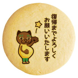 産休 メッセージクッキー 復帰までよろしくお願いいたします マタニティにゃんこ イラスト 個別包装