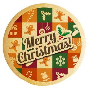 クリスマス スイーツ お菓子 メッセージクッキー Merry Christmas ギンガムチェック 個包装 ギフト プレゼント