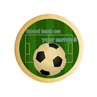 """Message cookies Good luck on your match (soccer) """"gifts & academic & admission"""" show cookies"""