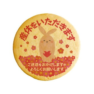 Will maternity leave message cookies _ rabbit pregnant thanks and gifts show cookies