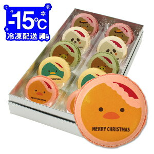 クリスマスパーティーに!メッセージマカロン 10個 Bセット(箱入り)お礼・プチギフト