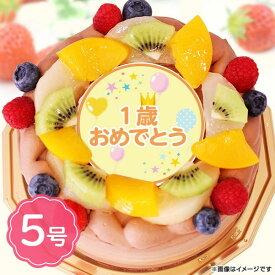 誕生日ケーキ 1歳おめでとう ショコラ5号サイズ(4〜6名分) バースデーケーキ 宅配 プレゼント フォチェッタ インスタ映え 送料無料