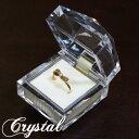 """【有料ケース】ダイヤのようなカット面がキラキラしてキュート♪アクリル製ジュエリーケース""""Crystal"""" お買い上げのお…"""