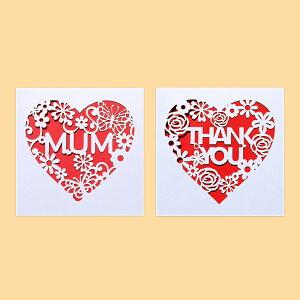 母の日ギフト メッセージカード 2種類 切り絵 封筒付き イラスト 母の日カード ママ お母さん 母 寄せ書き 手紙 グリーティングカード かわいい シンプル おしゃれ 誕生日 お祝い 文房具 出