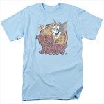 トムとジェリー(TomandJerry)TシャツWATERDAMAGEDライトブルーアダルトサイズTV-AT-HNB112B