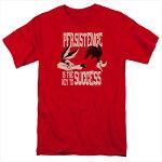 ルーニー・テューンズ(LooneyTunes)TシャツPERSISTENCEレッドアダルトサイズTV-AT-LT295