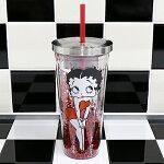 ベティブープ(BettyBoop)プラスチックカップw/スロトーBBSP21302