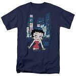 ベティブープ(BettyBoop)TシャツSquareネイビーアダルトサイズBB-TV-AT-BB723