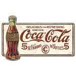 ラージプレミアムティンサインCOKE-Delicious5CentsMSLGCC01