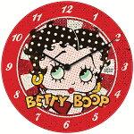 ベティブープ(BettyBoop)ガレージクロックBettyinRedBBBUD026