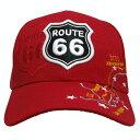 【RT.66 キャップ MAP レッド】ROUTE66 ルート66 帽子 ファッション USA 直輸入