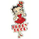 BettyBoopスティールサインBettyRedDressBBBUD028