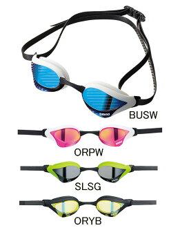 供有AGL-240M arena體育館COBRA CORE眼鏡蛇核心鏡子風鏡靠墊的遊泳風鏡遊泳風鏡陰結尾遊泳遊泳比賽使用