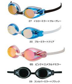 【あす楽対応】85YJ-752 mizuno ミズノ ジュニア用ミラーゴーグル 子供用 クッション付き スイミングゴーグル スイムゴーグル くもり止め プール キッズ 水泳 競泳