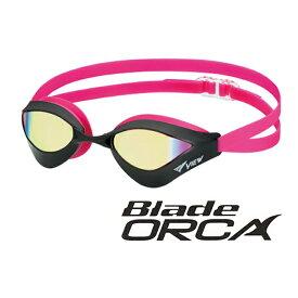 【あす楽対応】【FINA承認】V230MR Tabata タバタ View Blade ORCA ブレード オルカ クッション付き ミラーゴーグル スイミングゴーグル スイムゴーグル くもり止め 水泳 競泳用 MVBKO