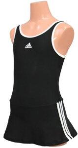 【あす楽/メール便対応可】ジュニア110サイズのみ!DDQ17 adidas アディダス スクール水着 ジュニア女子 子供用 ワンピース スカート付き キッズ プール 水泳 激安・格安セール!