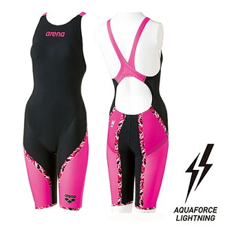 With swimsuit Highway swimsuit wearing lap for the half spats half suit swimming race swimsuit swimming race for the ARN-6002W arena arena aqua force lighting AQUAFORCE LIGHTNING flextime type Lady's woman