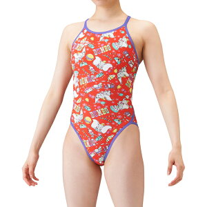 【送料込】ジュニア130・140サイズ!DIS-1304WJ arena アリーナ disney ディズニー ダンボ ToughSuit タフスーツ ジュニア女子 子供用 スーパーフライバック 練習用水着 練習水着 競泳水着 競泳用水着