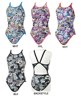 Only as for the small size! Swimsuit for the exercise swimsuit swimming race swimsuit tough skin Donald Daisy supermarket flyback exercise for the DIS-3354W arena arena disney Disney ToughSuit tough suit Lady's woman