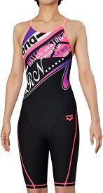 【あす楽対応】FSA-9625W arena アリーナ ToughSuit タフスーツ レディース 女性用 ハーフスパッツ ハーフスーツ タフスキン 練習用水着 練習水着 競泳水着 競泳用水着