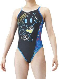 【送料込】ジュニア140サイズのみ!SAR-1111WJ arena アリーナ ToughSuit タフスーツ ジュニア女子 子供用 スーパーフライバック タフスキン アリーナくん 練習用水着 練習水着 競泳水着 競泳用水着
