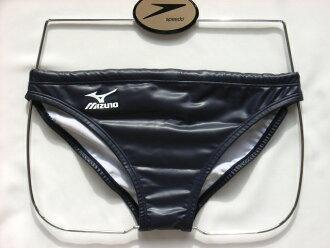 只SS、S尺寸!到达供到达85RQ-960 mizuno美津浓水球灌溉用水Water polo水球人男性使用的V裤子比基尼游泳比赛游泳衣游泳比赛灌溉用水藏青色