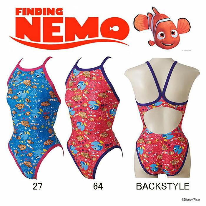 【あす楽対応】XSサイズのみ!N2MA7280 mizuno ミズノ Finding Nemo ファインディング・ニモ ExerSuits エクサースーツ レディース 女性用 ミディアムカット 練習用水着 練習水着 競泳水着 競泳用水着 激安・格安セール!