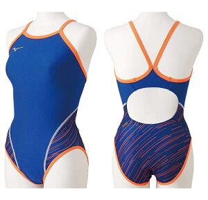 【送料込】ジュニア120・130サイズ! N2MA9482 mizuno ミズノ ジュニア女子 子供用 ミディアムカット 練習用水着 練習水着 競泳水着 競泳用水着