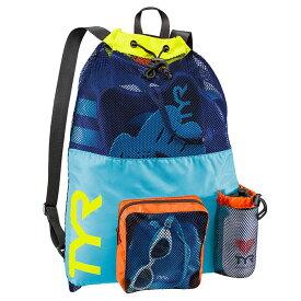 【あす楽対応】LBMMB3 TYR ティア メッシュバッグ リュック スイミングバッグ スイムバッグ 水泳 BLYL