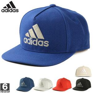 アディダス【adidas】ロゴフラットキャップEBZ971808アクセサリランニング屋外日除けアウトドアレジャーキャンプ観戦UPF50+スポーツ帽子