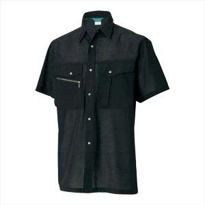 TS DESIGN (TSデザイン) 半袖シャツ ブラック 7155 2002 作業服 ユニフォーム TOP SHALETON