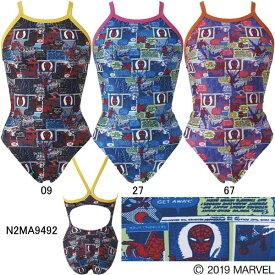【15%OFF】ミズノ(MIZUNO)女児用トレーニング水着 マーベル(MARVEL)スパイダーマン エクサスーツジュニアミディアムカット N2MA9492
