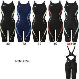 【15%OFF】ミズノ(MIZUNO)女性用 競泳水着 ストリームアクティバ ウイメンズハーフスーツ(オープン)N2MG8240