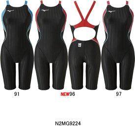 【15%OFF】ミズノ(MIZUNO)女性用 競泳水着 ストリームアクセラ ウイメンズハーフスーツ N2MG9224