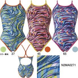 【15%OFF】ミズノ(MIZUNO)女性用トレーニング水着 Ri Rikako Ikee Collection エクサスーツウイメンズミディアムカット N2MA0271