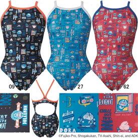【15%OFF】ミズノ(MIZUNO)女性用トレーニング水着 ドラえもん エクサスーツウイメンズミディアムカット N2MA1280
