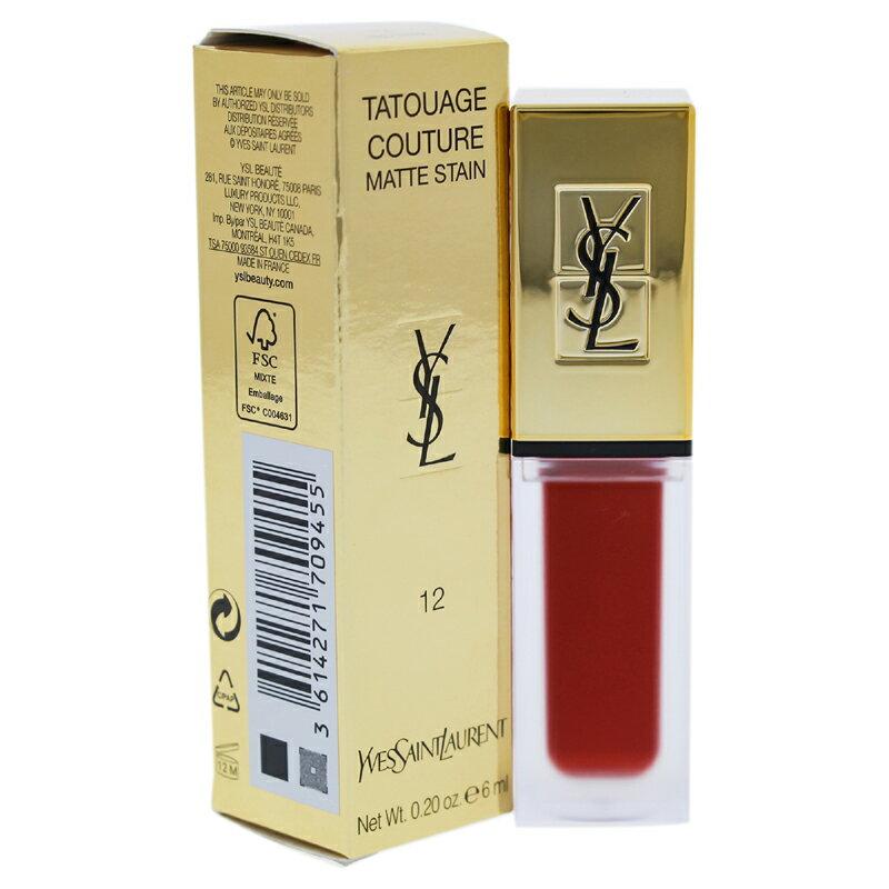 【正規品】【送料無料】【Yves Saint Laurent】Tatouage Couture Liquid Matte Lip Stain - 12 Red Tribe0.2ozTatouageクチュールリキッドマットリップステイン - 12レッドトライブ【女性】【海外直送】