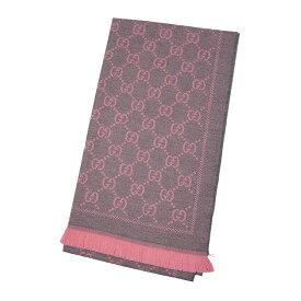 GUCCI グッチ スカーフ 133483 3G200 1272 ウール グレー/ピンク 中古/未使用品