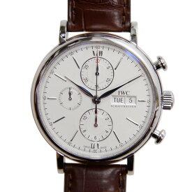 [新品] IWC ポートフィノ クロノグラフ IW391007 ステンレス/ダークブラウンアリゲーター シルバー文字盤 自動巻き 42mm 腕時計
