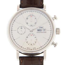 [新品] IWC ポートフィノ クロノグラフ IW391027 ステンレス/ダークブラウンアリゲーター シルバー文字盤 自動巻き 42mm 腕時計