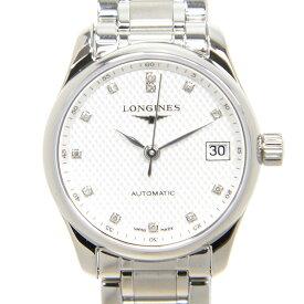 ロンジン LONGINES マスターコレクション L2.128.4.77.6 ステンレス シルバー 12Pダイヤ 自動巻き 25.5mm レディース腕時計